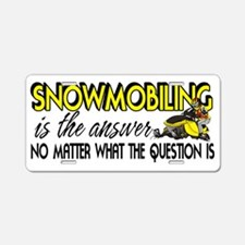 SNOWQUESTION Aluminum License Plate