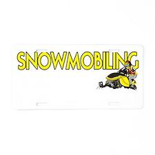 SNOWQUESTION2 Aluminum License Plate