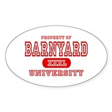 Barnyard University Oval Decal