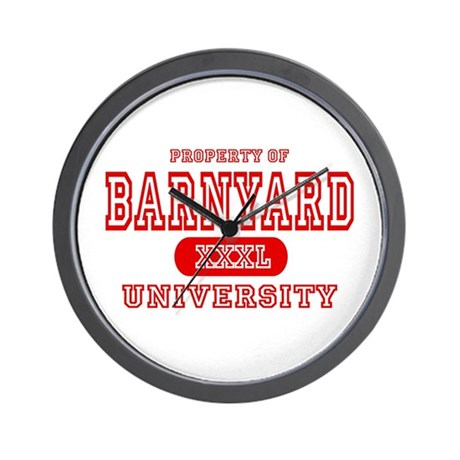 Barnyard University Wall Clock