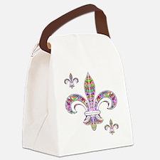 PSYCHEDELIC FLEUR-69c Canvas Lunch Bag