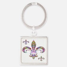 PSYCHEDELIC FLEUR-69c Square Keychain