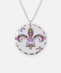 PSYCHEDELIC FLEUR-69c Necklace Circle Charm