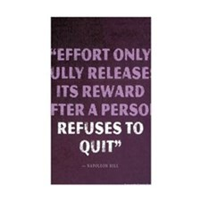 Napoleon Hill Motivational Quo Decal