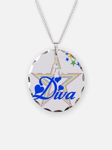 2-wine diva star white Necklace