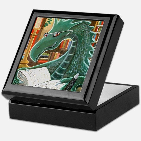 Library Dragon Keepsake Box