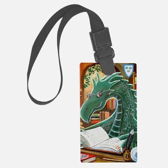 Library Dragon Luggage Tag