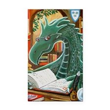 Library Dragon Rectangle Car Magnet