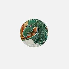 Library Dragon Mini Button