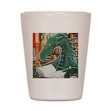 Library Dragon Shot Glass