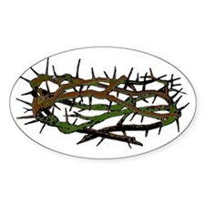 Crown of Thorns Oval Decal