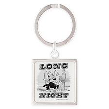 4-longnight Square Keychain
