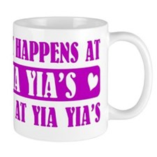 what happens at yia yias Small Mugs