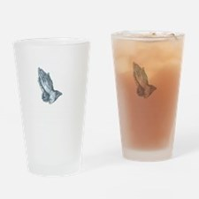 GrapplersPrayerBack Drinking Glass