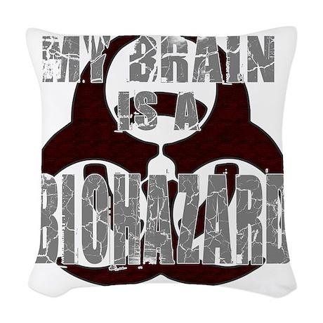 Biohazard for Light Woven Throw Pillow