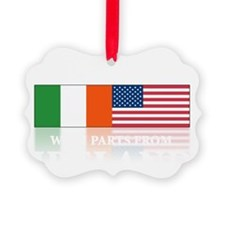 made in Ireland(blk) Ornament