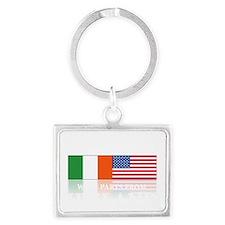 made in Ireland(blk) Landscape Keychain