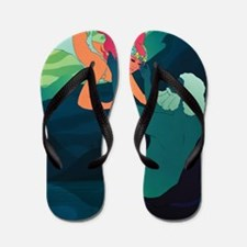 Persephone and Hades Flip Flops