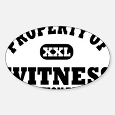 Property of Witness Protection Prog Decal