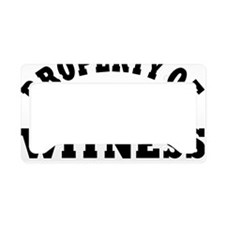 Property of Witness Protectio License Plate Holder