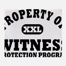 Property of Witness Protection Progr Throw Blanket