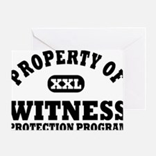 Property of Witness Protection Progr Greeting Card