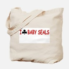 """I Club Baby Seals"" Tote Bag"