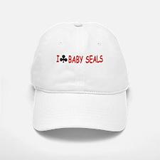 """I Club Baby Seals"" Baseball Baseball Cap"