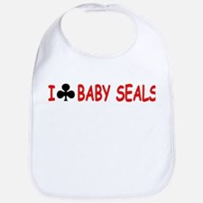 """I Club Baby Seals"" Bib"