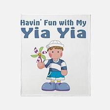 fun with yia yia Throw Blanket