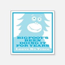 "2-Bigfoot Square Sticker 3"" x 3"""