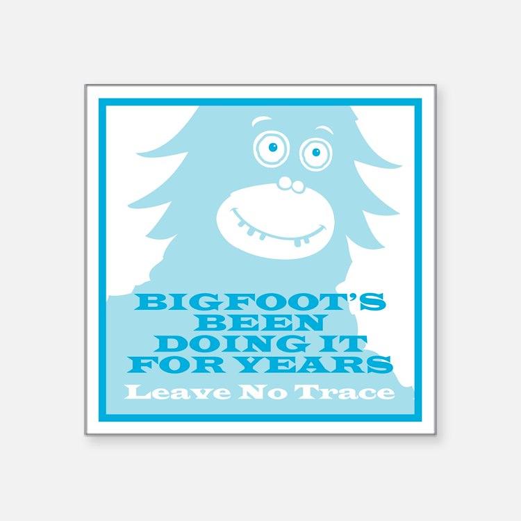 "2-Bigfoot Square Sticker 3"" x 3"""