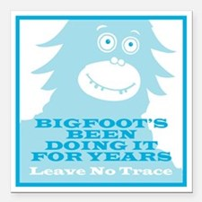 "2-Bigfoot Square Car Magnet 3"" x 3"""