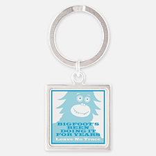 2-Bigfoot Square Keychain