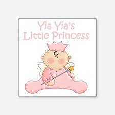 "yia yias little princess Square Sticker 3"" x 3"""