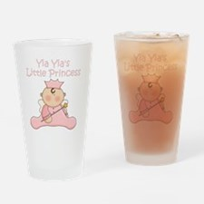 yia yias little princess Drinking Glass