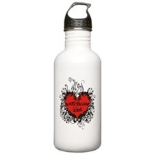 heart white Water Bottle