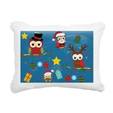 Christmas Owls Rectangular Canvas Pillow
