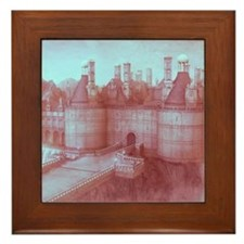 Castle, vintage colors Framed Tile