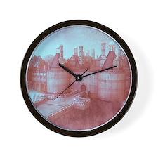 Castle, vintage colors Wall Clock