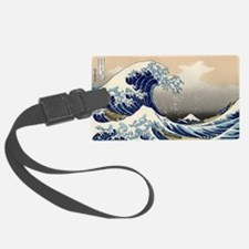 great_wave_5x3rect_sticker Luggage Tag