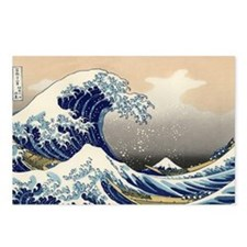 great_wave_5x3rect_sticke Postcards (Package of 8)