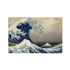 great_wave_5x3rect_sticker Rectangle Magnet