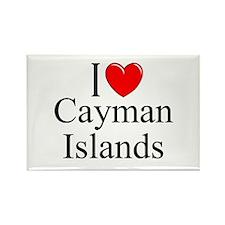 """I Love Cayman Islands"" Rectangle Magnet"