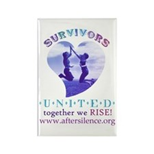 Survivors United Rectangle Magnet