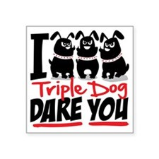 "tripledog Square Sticker 3"" x 3"""