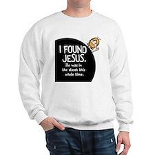 I-found-Jesus-BUTTON Sweatshirt