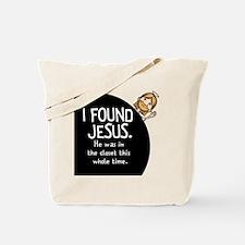 I-found-Jesus-BUTTON Tote Bag
