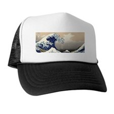 great_wave_8.31x3_bev Trucker Hat