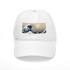 great_wave_8.31x3_bev Baseball Cap